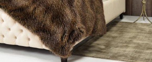 Helen Moore Faux Fur Truffle Throw