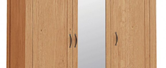 Daytona Triple Wardrobe With Mirror