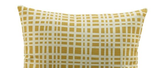 G Plan Vintage Scatter Cushion Grid Mustard