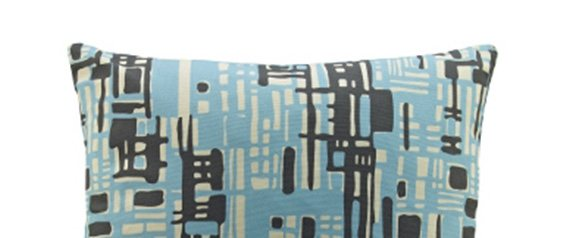 G Plan Vintage Scatter Cushion Texture Blue