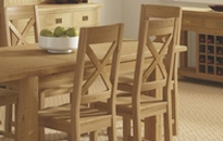 Cheltenham Oak Slatted Chair With PU Seat