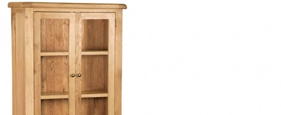 Cheltenham Oak Display Cabinet
