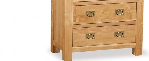 Cheltenham Oak Chest 3 Drawer