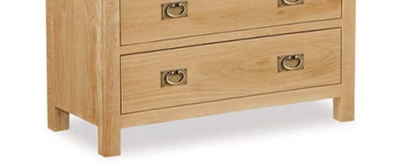 Cheltenham Oak Compact Chest 2 Over 3
