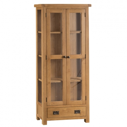 Odessa Oak Display Cabinet