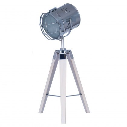 Whitewash Tripod Table lamp