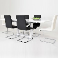 Prestige Dining Set & 4 Hue Chairs