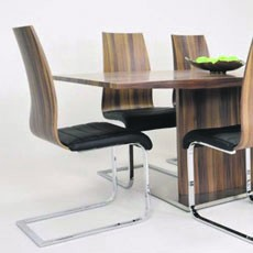 Prava Walnut Dining Table & 4 Chairs
