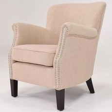 Harlow Fabric Winged Chair