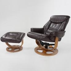 Henry Swivel Recliner Chair & Stool