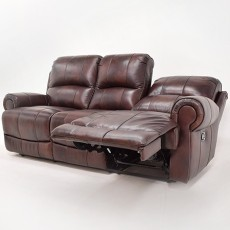 Leo 3 Seater Leather Recliner Sofa