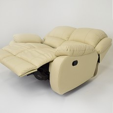 Nevada 2 Seater Leather Manual Recliner Sofa