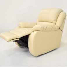 Nevada Leather Manual Recliner Armchair