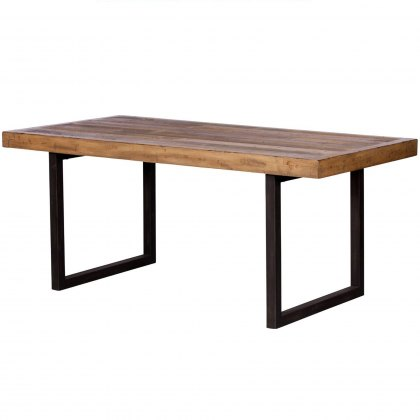 Reclaimed Ranch Fixed Top Dining Table FSC Certified