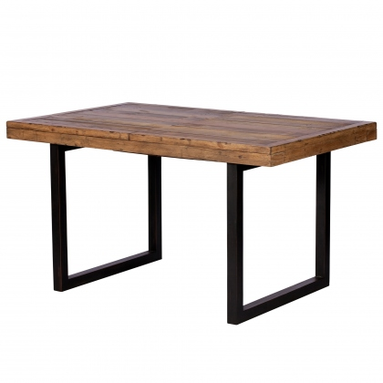 Reclaimed Ranch 140cm - 180cm Extending Dining Table FSC Certified