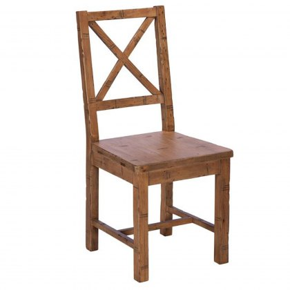 Blake Cross Back Chair wooden Seat FSC Certified