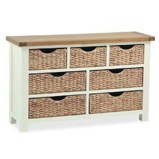 Country Cottage 3 + 4 Drawer Chest Basket