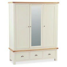 Country Cottage Mirrored Triple Wardrobe