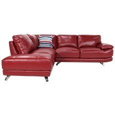 Mode Leather Left Hand Corner Sofa