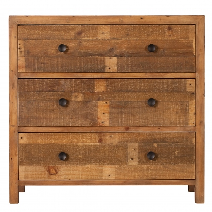 Reclaimed Ranch 3 Drawer Wide Chest FSC Certified