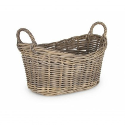 Grey Kubu Oval Laundry Basket