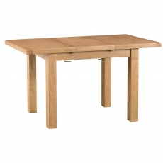 Odessa Oak 1m Butterfly Extending Table with Metal Runner