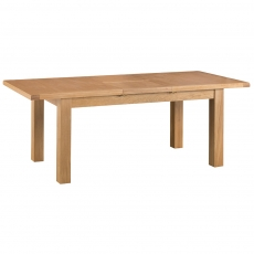 Odessa Oak 1.8m Butterfly Extending Table with Metal Runner