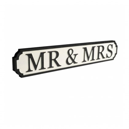 Mr & Mrs Vintage Street Sign