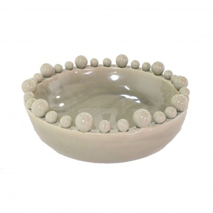 Grey Bowl with Spherical Detail