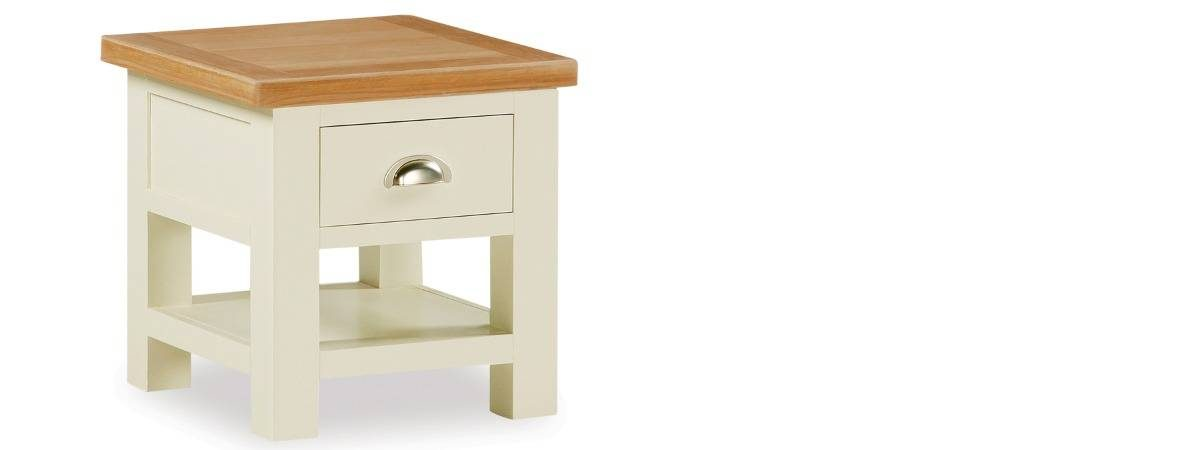 Country Cottage Lamp Table With Drawer