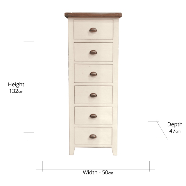 Camilla 6 Drawer Tall Chest