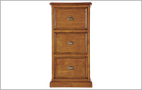 CAMILLA 3 DRAWER FILING CABINET in Cherry Brown