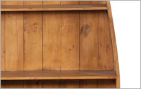 CAMILLA 4 SHELF DINGHY BOOKCASE in Honey Oak