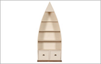 CAMILLA 4 SHELF DINGHY BOOKCASE