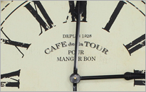 Cafe De La Tour Large Metal Clock