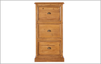 CAMILLA 3 DRAWER FILING CABINET in Honey Oak