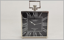Black and Nickel Clock