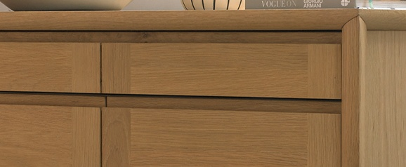 Brecon Oak Narrow Sideboard