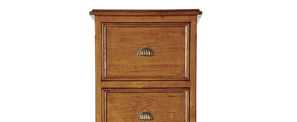 Camilla 3 Drawer Filing Cabinet Cherry Brown