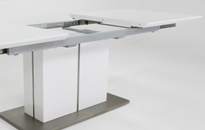 Grand Extending White Gloss Table