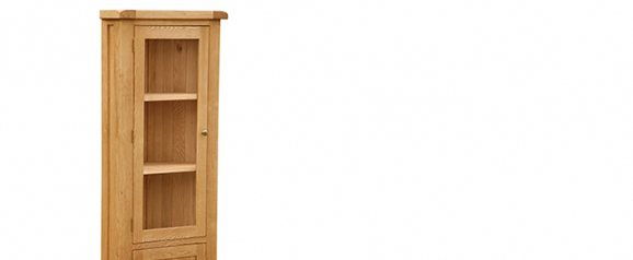 Cheltenham Oak Corner Display Cabinet