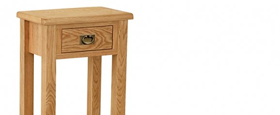 Surrey Oak Compact Telephone Table