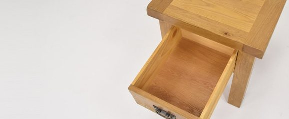 Odessa Oak Lamp Table