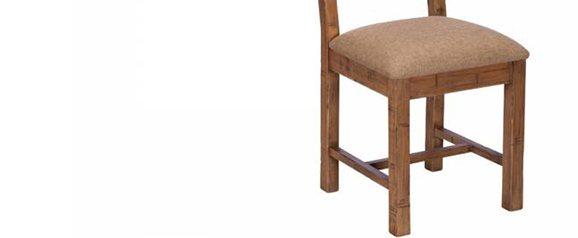 Blake Cross Back Chair Upholstered Seat FSC Certified