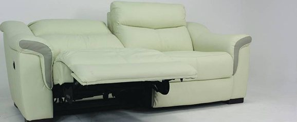 Bellini 3 Seater Leather Power Recliner Sofa