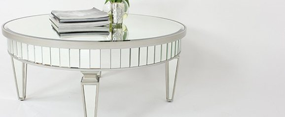 Venetian Mirrored Round Coffee Table
