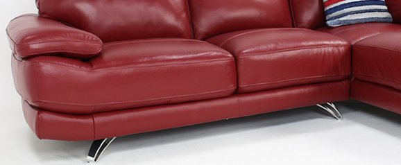 Mode Leather Right Hand Corner Sofa