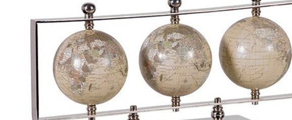 Globes on Silver Stand
