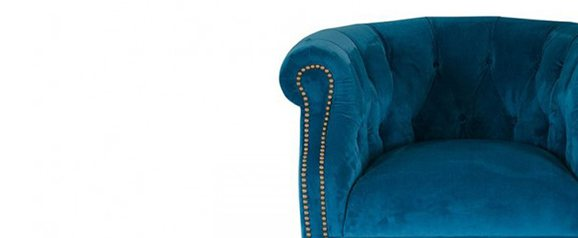 Alexander & James Jude Armchair Plush Teal