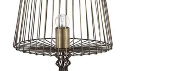Industrial Open Wire Table Lamp